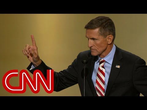 Michael Flynn leads 'lock her up' chant at 2016 RNC