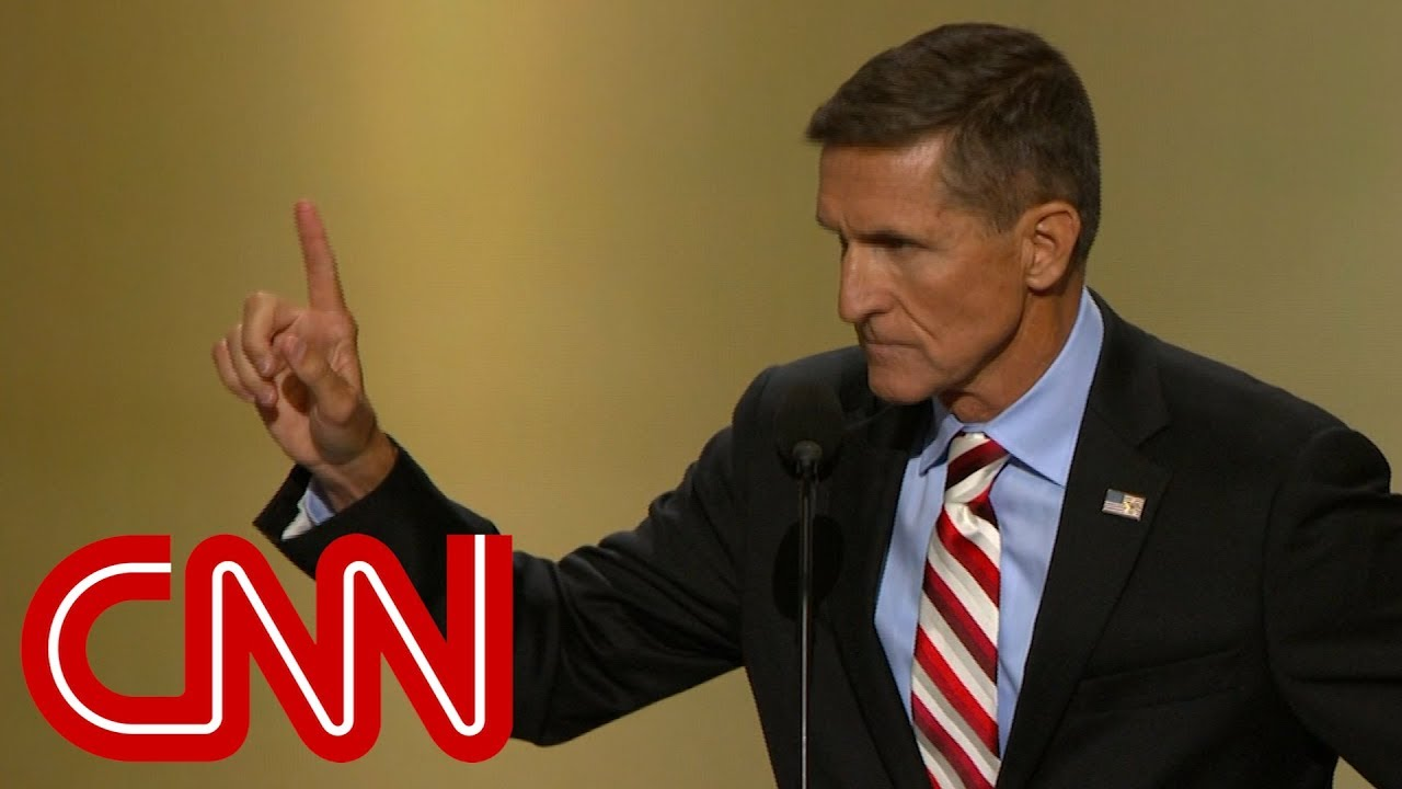 Michael Flynn Leads Lock Her Up Chant At 2016 Rnc Youtube