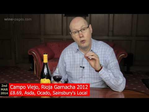 winepagesTV: Campo Viejo, Rioja Garnacha 2012. Spain, wine review
