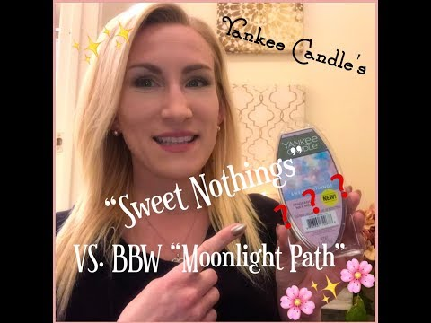 "Yankee Candle ""SWEET NOTHINGS"" Wax Review! *BBW Moonlight Path Dupe?* ✨🌸"
