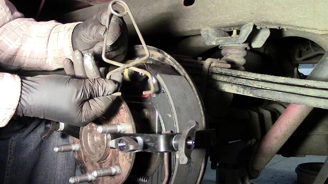 small resolution of emergency brake cable install