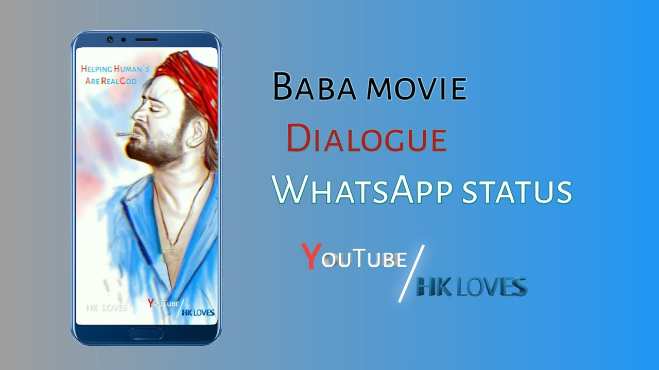 Baba Movie Dialogue Whatsapp Status Hk Loves Youtube