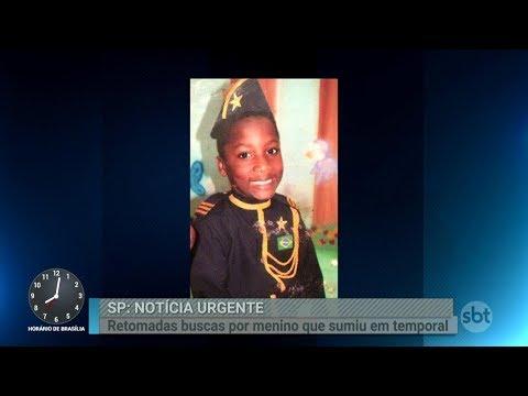 Bombeiros retomam buscas por criança desaparecida em enchente | Primeiro Impacto (27/02/18)