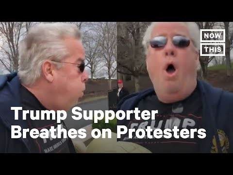 Trump Supporter Charged with Assault for Forcefully Breathing on Protesters | NowThis