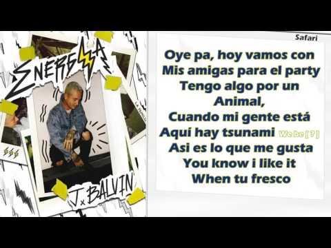 Safari - J Balvin ft Pharrell Williams, Bia & Sky (Letra)