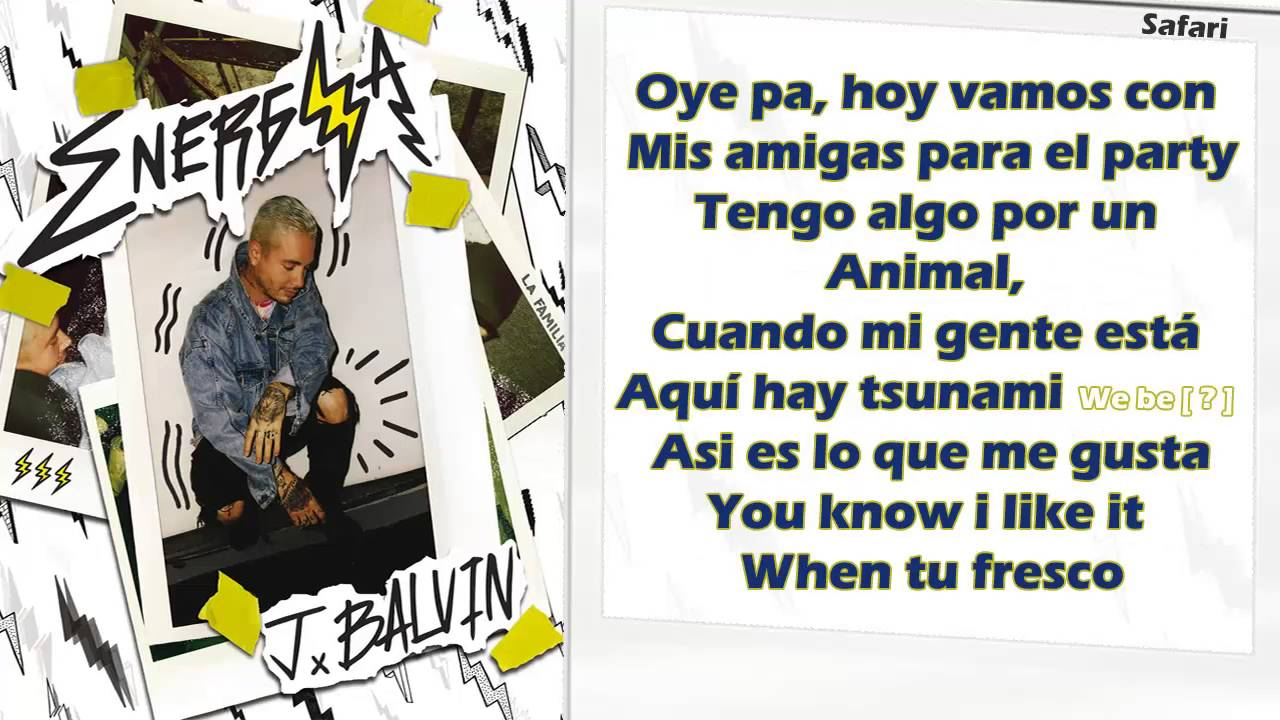 Safari - J Balvin ft P...J Balvin Lyrics