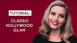 Hollywood glam hair & makeup tutorial