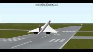 FS2000:The last take off of the Concorde