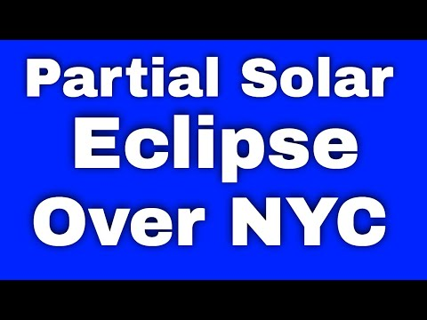 video of partial solar eclipse from new york city, August 21, 2017