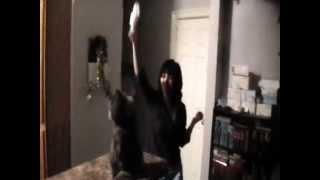 Funny dancing cat кошка танцует под музыку