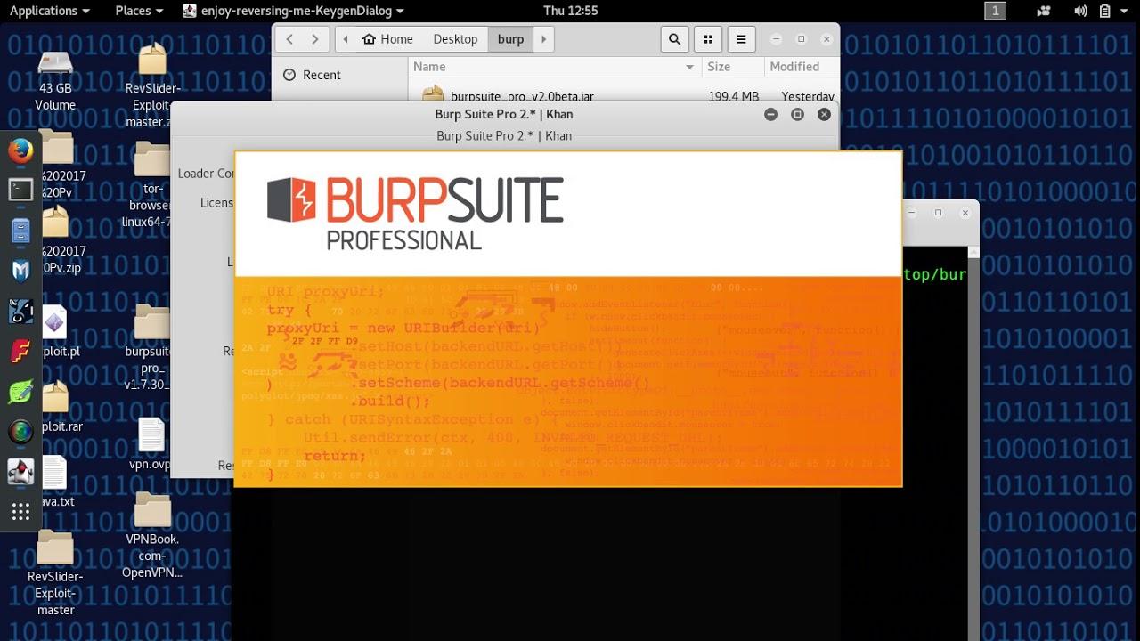 Burp Suite Professtional Beta 2 0 In Kali Linux