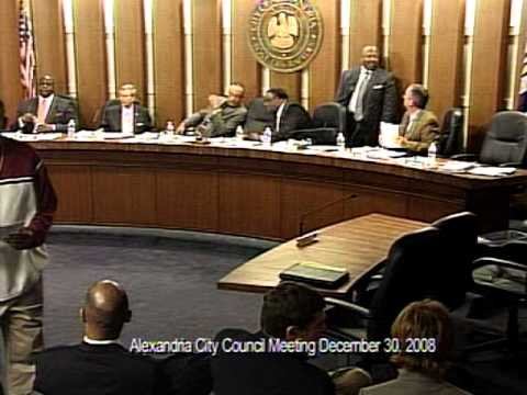 city of alexandria, la. council meeting 30 december 2008