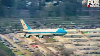 President Trump Air Force One Flyover Daytona 500 (Fox)