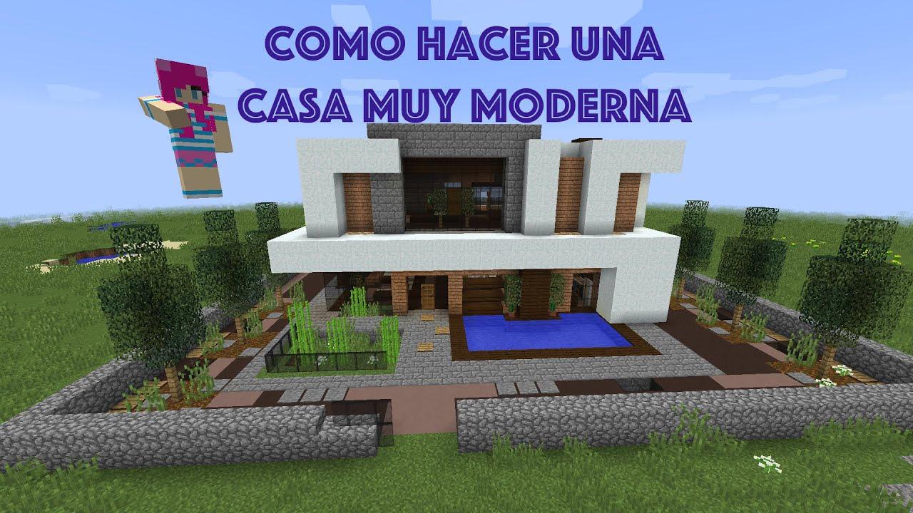 Como hacer una casa muy moderna en minecraft pt2 youtube for Casa moderna 8
