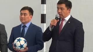 Урок футбола прошел в сш № 66 Саздинского с/о