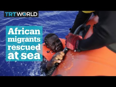 At least 100 African migrants rescued at sea