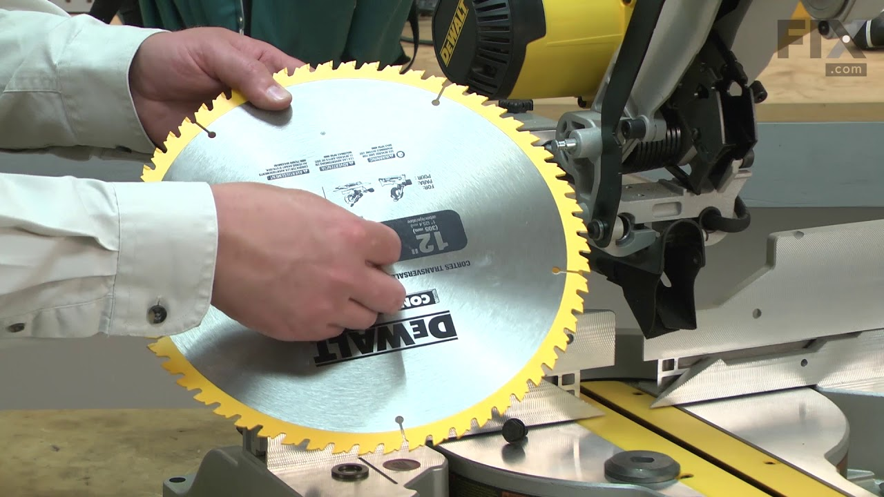 DeWALT Miter Saw Repair - How to Replace the Blade Adapter Ring