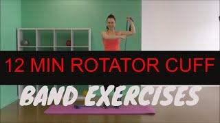 12 Minute Theraband Shoulder & Upper Back Strength | Rotator Cuff Exercises