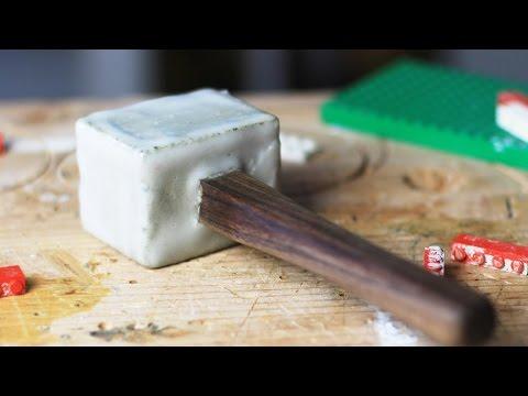 Can You Make a Mallet w/ Concrete, Epoxy & LEGO?