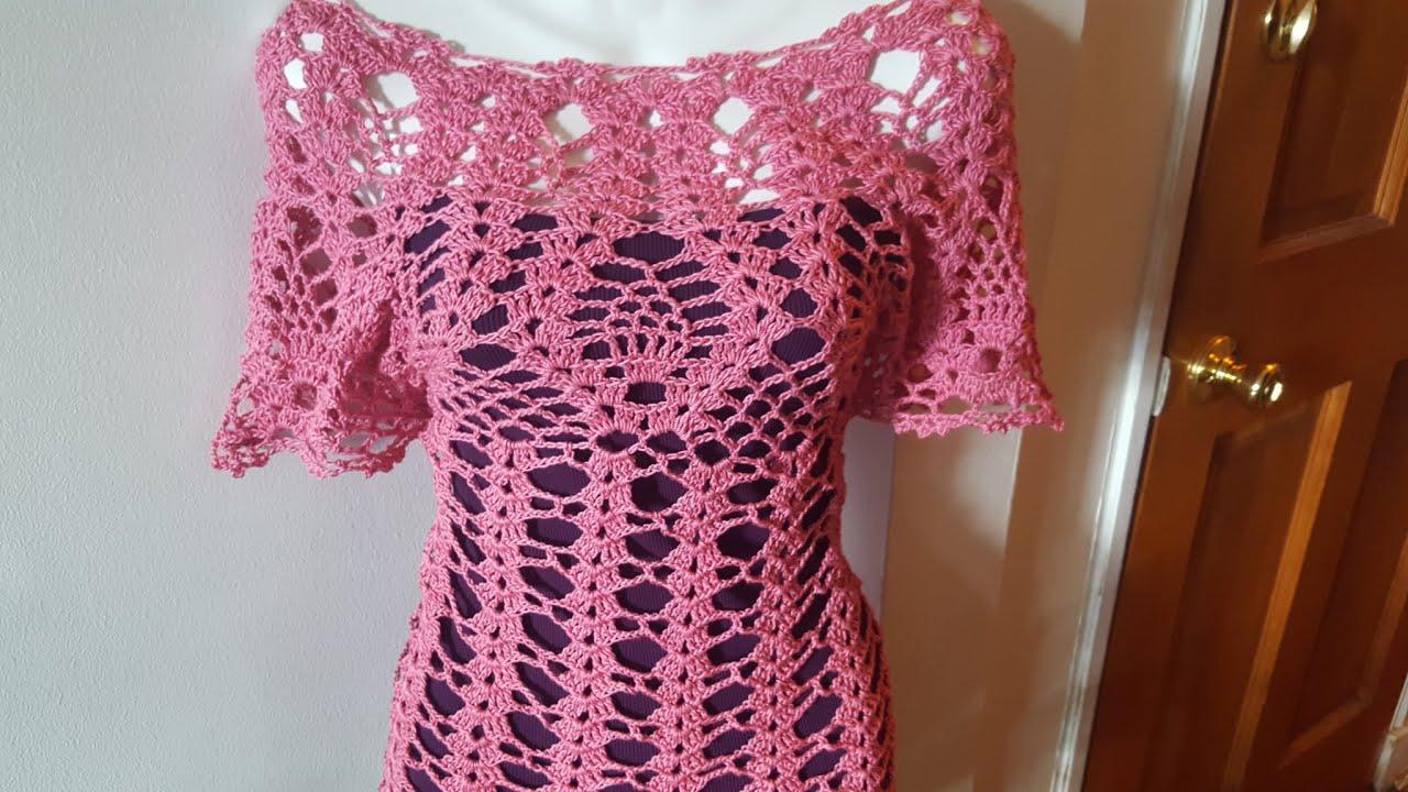 Blusa de Piñas PARTE #1 a Crochet (ganchillo) - YouTube
