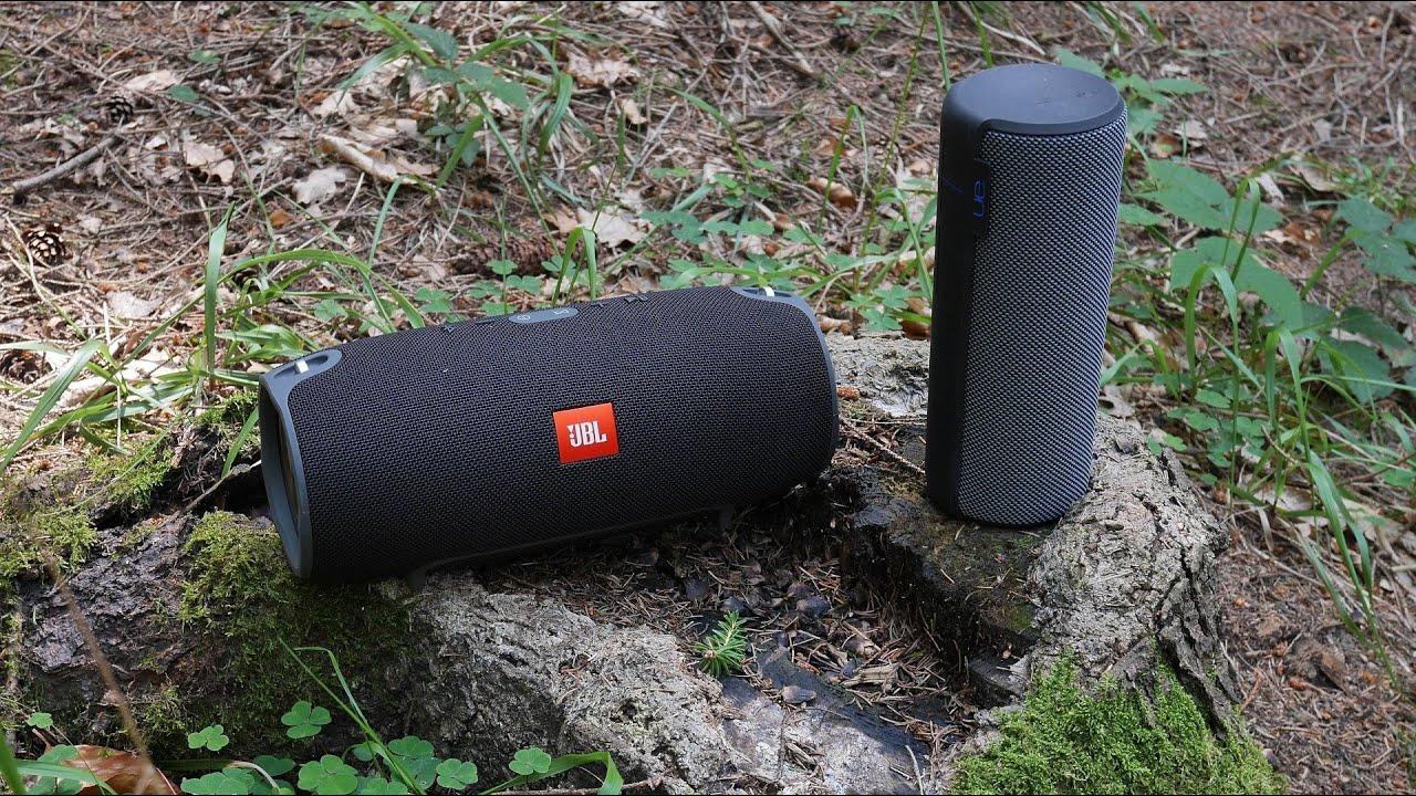 JBL Xtreme vs  UE Megaboom - outdoor soundcheck