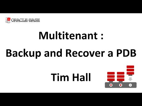 Multitenant : Backup and Recover a Pluggable Database (PDB)
