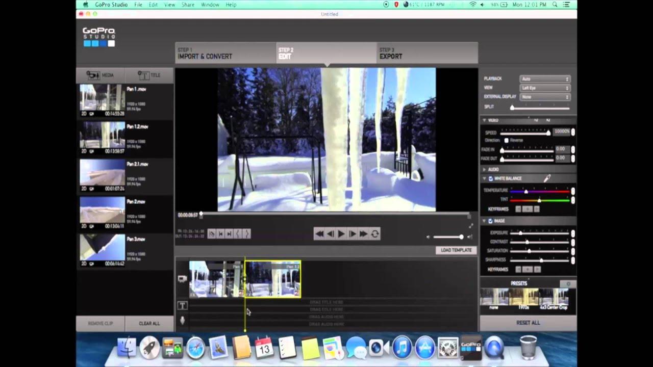 Editing Protune in Gopro Studio 2.0 - YouTube