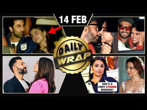 Ranbir SUPPORTS Alia Deepika Ranveer Gully Boy Vidya REACTS On Kangana  Top 10 News