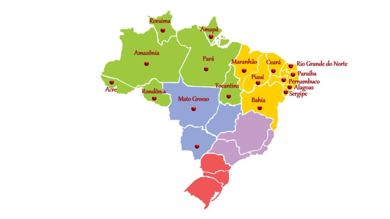 Mapa do Brasil   YouTube