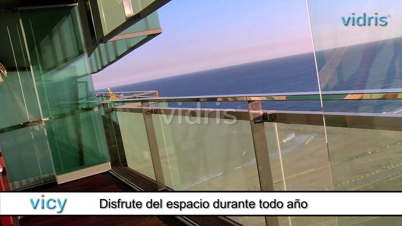 Vicy cortinas de cristal para balcones y pisos en for Cortinas para balcones exteriores