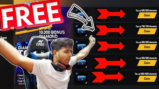 I GOT 10000 DIAMONDS FROM TOP UP EVENT || FREE FIRE NEW EVENT FULL DETAILS [Hindi]