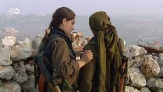 Syria: Kurdish women soldiers against jihadists   Global 3000