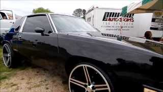 "Blacked Out Oldsmobile Cutlass on 24"" Irocs"