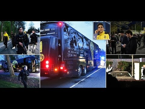 Three roadside bombs that struck Borussia Dortmund team bus were detonated by MOBILE PHONE.