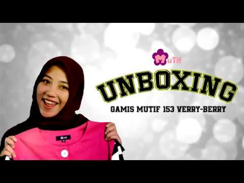 UNBOXING gamis Mutif 153 Verry-Berry