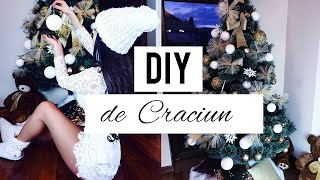 DIY DE CRACIUN DECORATIUNI DE CRACIUN IMPODOBIM BRADUL ! [HD]