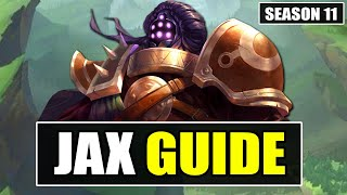 HOW TO PLAY JĄX TOP SEASON 11 - (Best Build, Runes, Gameplay) - S11 Jax Guide