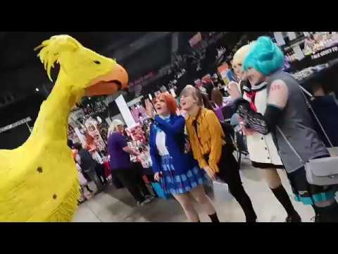 Chocobo Cosplay Sheffield UK June 2018. (life size interactive)