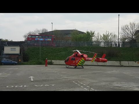 London Air Ambulance On The Claverings Industrial Estate.