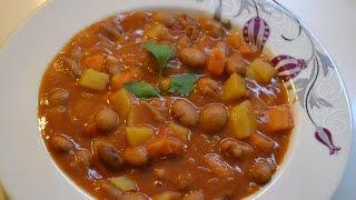 Красная фасоль в томате (Barbunya Tarifi)