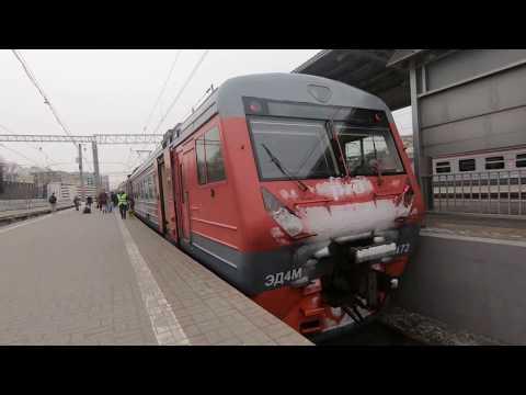 ЭД4М-0472, маршрут: Москва - Узуново / Train ED4M-0472, Route: Moscow - Uzunovo