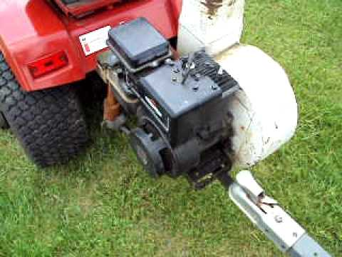 Ford Build Your Own >> For Sale IH 682 Cub Cadet with E-Z Rake lawn blower/vacuum and Ford collector cart - YouTube