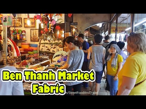 Vietnam Travel - Ben Thanh Market - Fabric and Tailoring Services