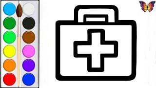 Как нарисовать СУМКУ ДОКТОРА / мультик раскраска СУМКА ДОКТОРА для детей / Раскраски малышам