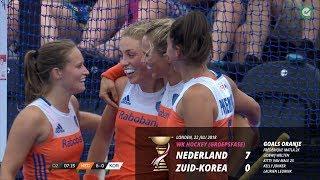 WK Hockey 2018: samenvatting Nederland - Zuid-Korea (7-0)