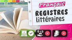 📚Quiz français : Les registres littéraires