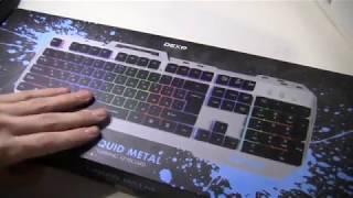 Обзор на Игровую клавиатуру | DEXP Liquid metal