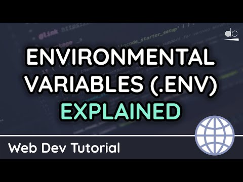 How to use Environmental Variables (.env) Files