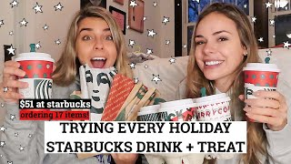 Trying Every Winter Starbucks Drink + Treat | Meg & Rosy