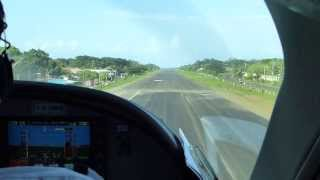 Landing at Big Corn Island, Nicaragua